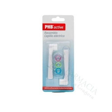 CEPILLO DENTAL ELECTRICO PHB ACTIVE RECAMBIO 2 UDS