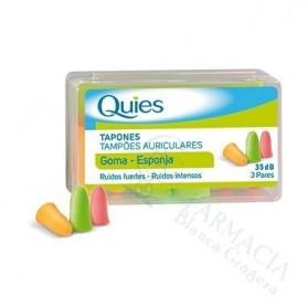 TAPONES OIDOS ESPUMA QUIES 6 UDS