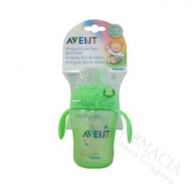 AVENT TAZA MAGIC ANTIGOTEO VERDE 260ML.