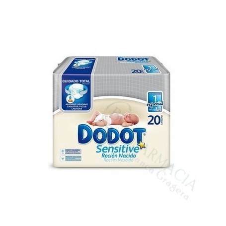 PAÑAL DODOT 1¬ SEMANA 0-3KG 20