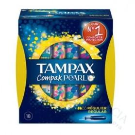 Tampones 100%Algodon Tampax Compak Pearl Regular