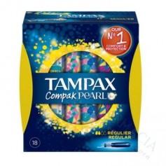Tampones 100% Algodon Tampax Compak Pearl Regular
