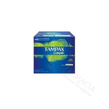 TAMPAX COMPAK TAMPON 100%ALGODON SUPER 22 U