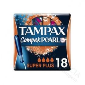 TAMPONES 100%ALGODON TAMPAX PEARL SUPER 18 U