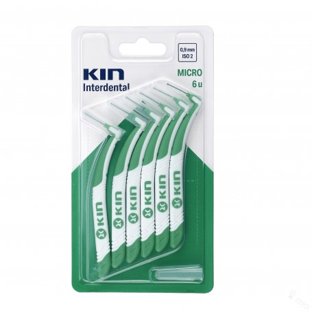 KIN INTERDENTAL 0,9MM MICRO 6UNI. (VERDE)