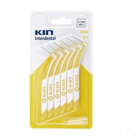 KIN INTERDENTAL 1,1MM MINI 6UNI. (AMARILLO)