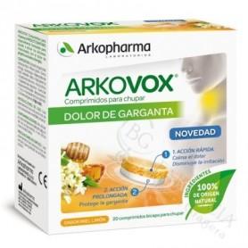 ARKOVOX DOLOR DE GARGANTA 20 COMPRIMIDOS PARA CH