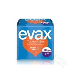 COMPRESA EVAX COTTON CON ALAS SUPER 12 UDS