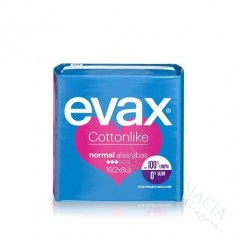 COMPRESA EVAX COTTON CON ALAS NORMAL 16 UDS