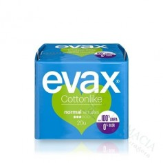 COMPRESA EVAX COTTON SIN ALAS NORMAL 20 UDS