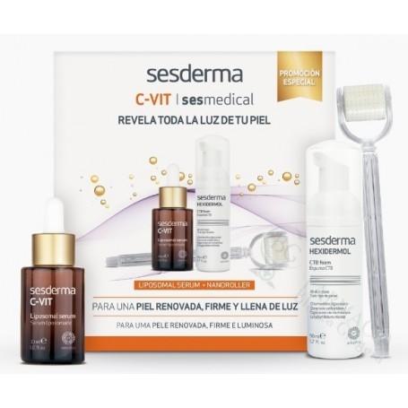 Pack Sesderma C-Vit Serum + Sesmedical Nano Roll-On