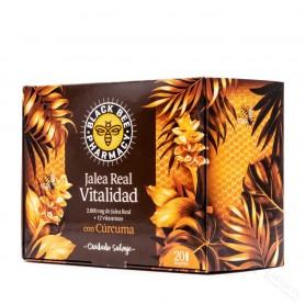 Black Bee Jalea Real Vitalidad Con Curcuma 20 Ampollas
