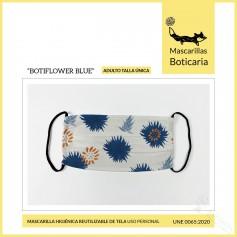 Mascarilla Boticaria Botiflower Blue Adulto