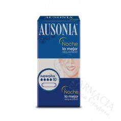 Compresas Ausonia Noche Superplus 10