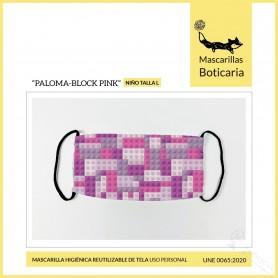 Mascarilla Boticaria Paloma Block Pink Infantil